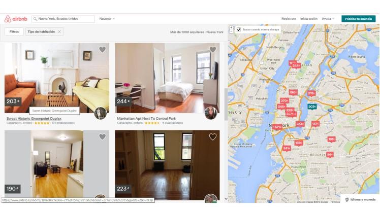 airbnb apartamentos baratos nueva york