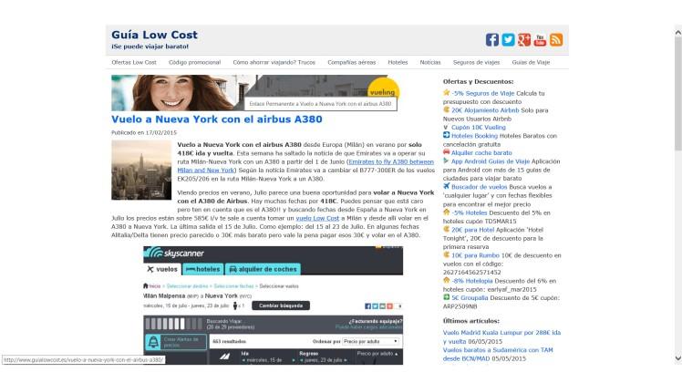 guia low cost vuelo nueva york barato